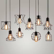 hanging cage light vintage industrial metal cage pendant light hanging lamp bulb lighting fixture new loft