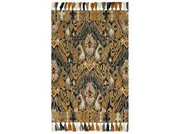 loloi rugs farrah fh 02 rectangular charcoal khaki area rug