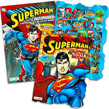 Print superman coloring pages for free and color our superman coloring! Amazon Com Superman Coloring Book Set With Stickers 2 Books Superman Party Supplies Toys Games