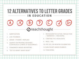 Elementary School Grading Chart 12 Alternatives To Letter Grades In Education