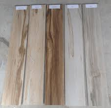 biowood with multiple wood plank tile sizes