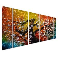pure art gigantic tree of life metal wall art decor colorful 3d artwork for modern on colorful metal wall art decor with amazon pure art gigantic tree of life metal wall art decor