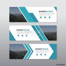 Blue Abstract Corporate Business Banner Template Horizontal