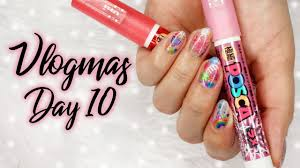 Colorful Nail Art Using Pens   Vlogmas KKN Style Day 10 ...