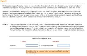 Direct Deposit Sheet Solved 1a Most People Deposit Funds By Means Of A Check O