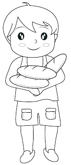 bread coloring page loaves and fishes five two pages of fish gingerbread loaf