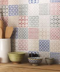view in gallery batik patchwork tile kitchen backsplash mix and match