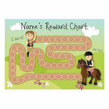 Do Reward Charts Work A4 Customisable Horse Race Reward Chart With 19mm Matching Stickers