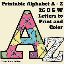 Printable alphabet letters and coloring pages. Free Printable Alphabet Letters Coloring Pages