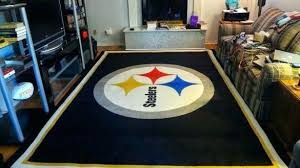 pittsburgh steelers rugby rug