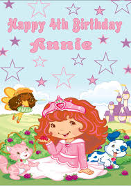 Birthday Cards Design For Kids Personalised Strawberry Shortcake Birthday Card