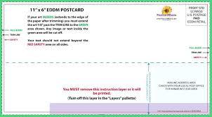 Standard Postcard Size Template Postcards Free Jumbo Paperdirect