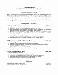 Bartender Resume Examples Best Of Personal Skills In Resume Examples