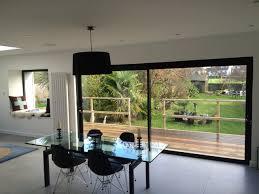 elegant oversized black aluminium frame clear glass patio sliding doors
