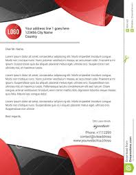 3d Letterhead Design Abstract 3d Red And Black Glossy Letterhead Template Stock