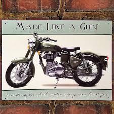 royal enfield bullet motorbike metal tin wall art sign plaque 30 40cm 50933 on motorbike metal wall art uk with royal enfield bullet motorbike metal tin wall art sign plaque 30