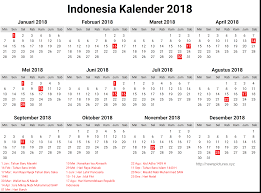 2018 calendar indonesia merry christmas and happy new year 2018