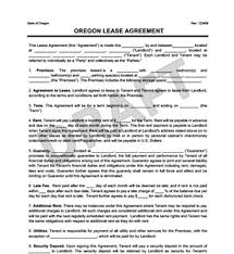 Rental Agreement Interesting Oregon Residential LeaseRental Agreement Create Download