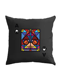 Small Picture Ace of Spades Black Cushion Cover CanofJuice Home decor online