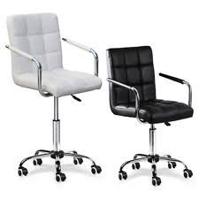 office chair white leather. Modern PU Leather Office Chair Gas Lift Swivel Executive Computer Desk Task White A