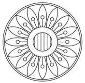 mandala with floral pattern 3 coloring page mandala with spiral pattern coloring page free printable on spiral pattern template