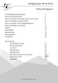 Kampboekje 2010 2011 1 Inhoudsopgave Uss Proton