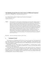 Norma Design Practice Architect Pdf The Building Design Process In The Context Of Different