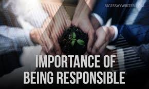 essay on responsibility importance of being responsible  everyone has heard about responsibility we all know that some people are responsible others are irresponsible each of us at least once in a lifetime has