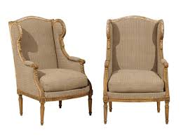 wingback chair. Pair Of French 19th Century Louis Xvi Style Wingback Chairs Chair