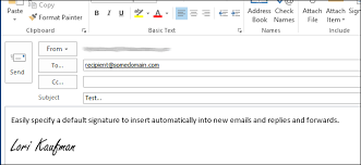 How To Do A Signature How To Assign A Default Signature In Outlook 2013