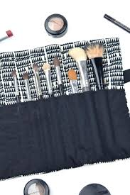 makeup brush roll set with up case 24 piece how to sew a travel