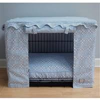 designer dog crate covers. Fine Crate Blue Trellis Canvas Dog Crate Cage Cover With Designer Covers