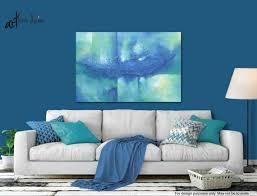 original abstract painting cobalt blue