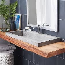 trough   nativestone® rectangular bathroom sink  native trails
