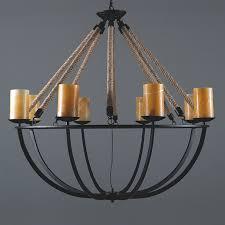 vintage marble candlestick rope chandelier