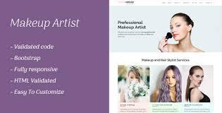 makeup artist responsive template health beauty retail
