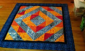 Lovely Frankenstein's Quilting Laboratory: A Color Theory Quilt ... & Well, the quilt top anyway. Once I got it all together, the blue became the  dominant force and the orange is just that kick f color ... Adamdwight.com