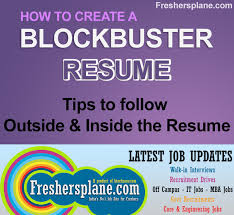 Resume Writing Tips For Freshers Experience Sample Tips Best