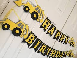 Construction Birthday Party Decorations Backhoe Birthday Party Boy Birthday Truck Party Backhoe
