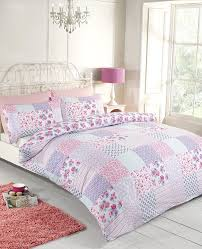 rapport elsa duvet set polyester cotton pink king co uk kitchen home