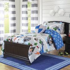 kids bedding set twin xl comforter toddler boys bed sheets 3 piece blue gray