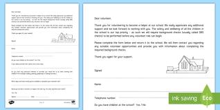 letter for volunteers editable volunteer helpers letter eyfs volunteers early