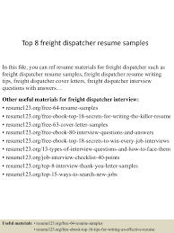 Transportation Dispatcher Resume Examples Top224freightdispatcherresumesamples224lva224app622492thumbnail24jpgcb=2242437637930 21