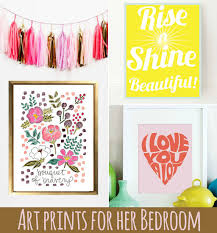 wall art prints for a big girl room via ashley hackshaw lilblueboo  on wall art prints for bedroom with art prints for her bedroom