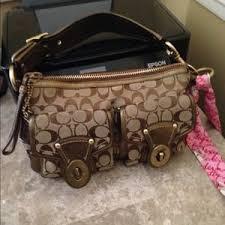 Coach Bags - COACH legacy double pocket turn lock handbag
