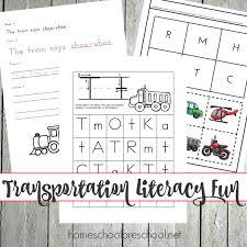 Preschool Transportation Activities and Printables