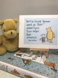 Classic Winnie The Pooh Friendship Card Pooh Bear Quote About Friends