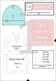 Baby Hat Pattern Enchanting Easiest Baby Hat Sewing Pattern EVER Bene Pinterest Diy Baby
