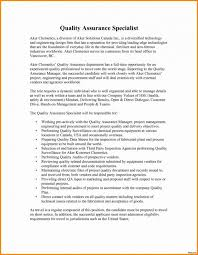 Cover Letter Template Quality Assurance Resume Format