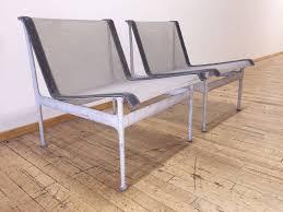 original vintage richard schultz pair of low lounge chairs patio